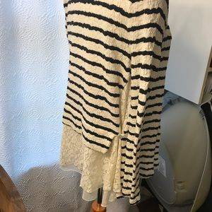 Anthropologie Sweaters - Anthropologie Striped Lace Sweater